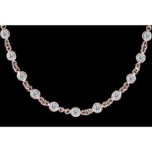 "Jewelry - 10 ct diamond yards 32"" necklace by pendant bracel"